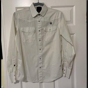 G-Star Raw authentic white designer shirt S